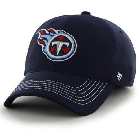 Tennessee Titans 47 Brand Navy Game Time Closer Performance Flexfit Hat Cap