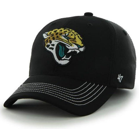 Shop Jacksonville Jaguars 47 Brand Black Game Time Closer Performance Flexfit Hat Cap