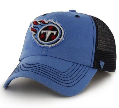 Shop Tennessee Titans 47 Brand Blue Navy Taylor Closer Mesh Flexfit Hat Cap