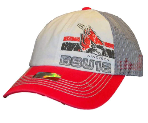 Shop Ball State Cardinals Top of the World Youth Red Gray Mesh Snapback Hat Cap - Sporting Up
