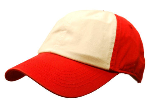 Shop Top of the World Red White Two Tone Adjustable Strap Hat Cap