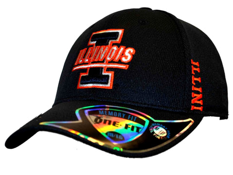 Shop Illinois Fighting Illini Top of the World Navy Booster Memory Flex Hat Cap (M/L)