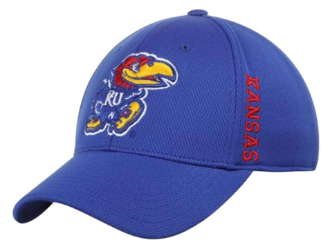 Shop Kansas Jayhawks Top of the World Blue Booster Memory Flexfit Golf Hat Cap (M/L)