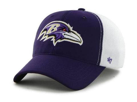 Shop Baltimore Ravens 47 Brand Purple Draft Day Closer Performance Flexfit Hat Cap
