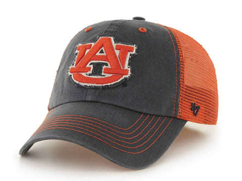 buy popular 840a7 eaf70 Auburn Tigers 47 Brand Navy Orange Taylor Mesh Closer Flexfit Slouch Hat Cap