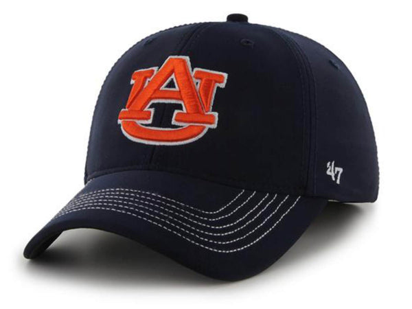 new style 67676 4396f Auburn Tigers 47 Brand Navy Game Time Closer Performance Flexfit Hat Cap