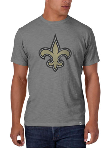 Shop New Orleans Saints 47 Brand Wolf Grey Soft Cotton Scrum T-Shirt