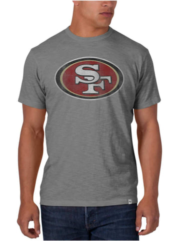 Shop San Francisco 49ers 47 Brand Wolf Grey Soft Cotton Scrum T-Shirt - Sporting Up