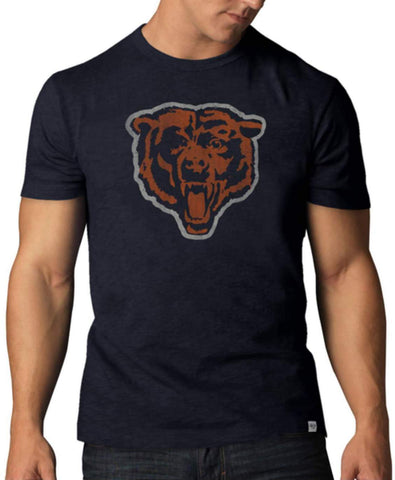 Shop Chicago Bears 47 Brand Fall Navy Soft Cotton Scrum T-Shirt - Sporting Up
