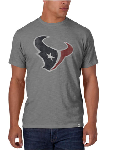 Shop Houston Texans 47 Brand Wolf Grey Soft Cotton Scrum T-Shirt