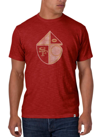 Shop San Francisco 49ers 47 Brand Rescue Red Legacy Soft Scrum T-Shirt