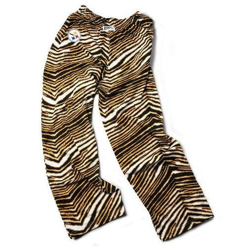Pittsburgh Steelers ZUBAZ Gold Black White Vintage Zebra Embroidered Logo Pants