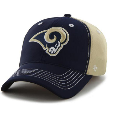 Shop St. Louis Rams 47 Brand Light Gold Navy Carson Closer Flexfit Hat Cap