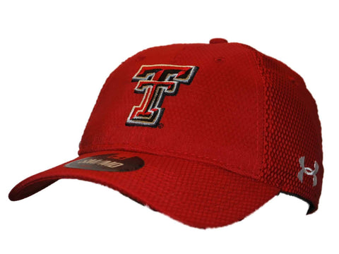 Shop Texas Tech Red Raiders Under Armour Red Mesh Stretch Fit Hat Cap