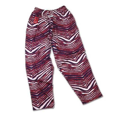Shop Boston Red Sox ZUBAZ Red Navy White Vintage Style Zebra Logo Pants - Sporting Up