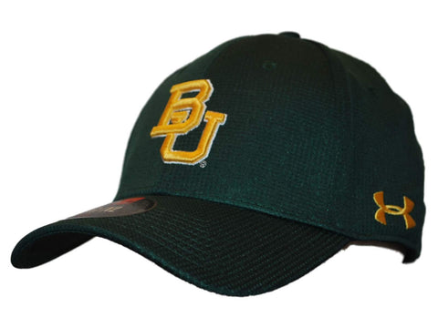 Shop Baylor Bears Under Armour Forest Green Tactel Stretch Fit Hat Cap