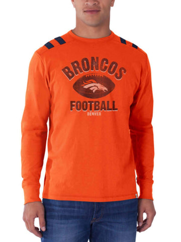 Denver Broncos 47 Brand Orbit Orange Bruiser Long Sleeve Shirt