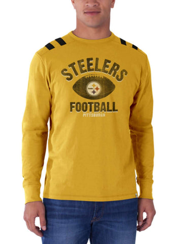 Pittsburgh Steelers 47 Brand Galley Gold Bruiser Long Sleeve Shirt - Sporting Up