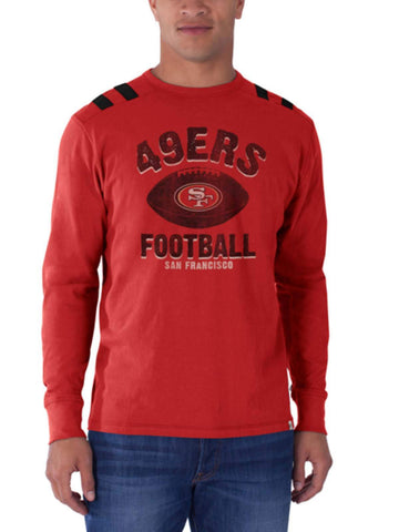 Shop San Francisco 49ers 47 Brand Rebound Red Bruiser Long Sleeve Shirt - Sporting Up