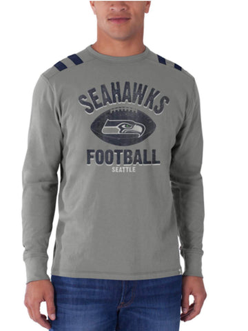 Shop Seattle Seahawks 47 Brand Wolf Grey Bruiser Long Sleeve Shirt