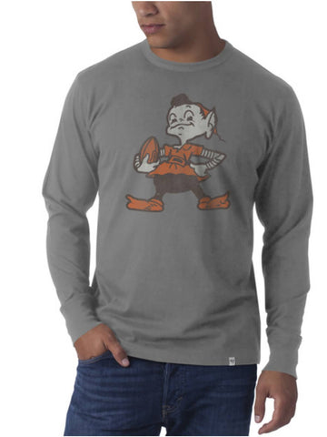 Cleveland Browns 47 Brand Wolf Grey Legacy Flanker Long Sleeve Shirt