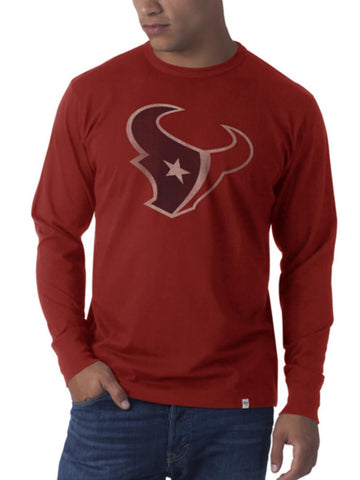 Shop Houston Texans 47 Brand Rescue Red Flanker Long Sleeve Shirt