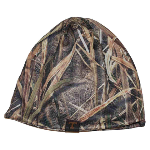 Shop Tennessee Volunteers Top of the World Mossy Oak Camo Reversible Beanie Hat Cap - Sporting Up