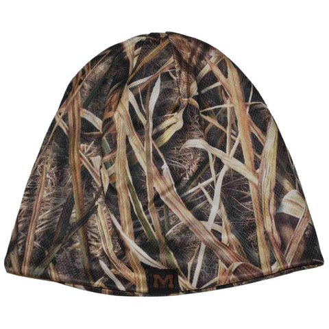 Shop Michigan Wolverines Top of the World Mossy Oak Camo Reversible Beanie Hat Cap - Sporting Up
