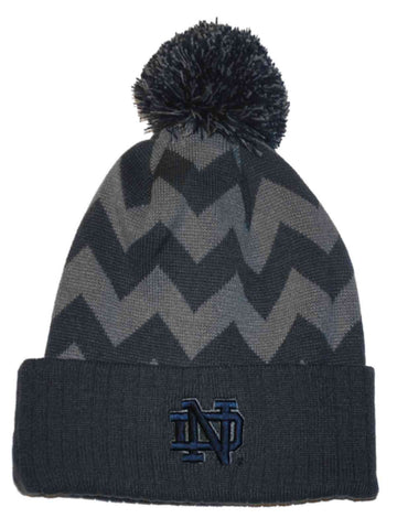 Shop Notre Dame Fighting Irish Top of the World Gray Chevron Knit Cuffed Beanie Cap - Sporting Up