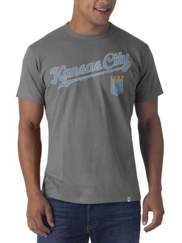 Shop Kansas City Royals 47 Brand Wolf Grey Flanker T-Shirt - Sporting Up