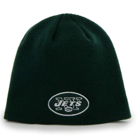 Shop New York Jets 47 Brand Dark Green Knit Hat Cap Beanie 6244ffe93d5