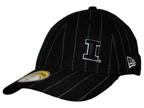 Shop Illinois Fighting Illini New Era Black Pin Stripe Concealer Hat Cap (7 1/4) - Sporting Up
