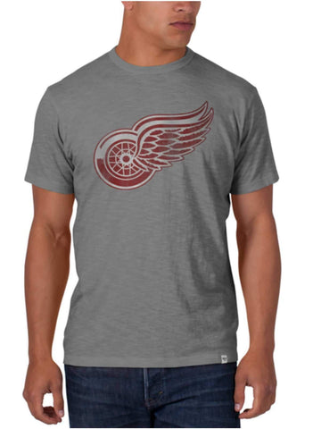 Shop Detroit Red Wings 47 Brand Wolf Grey Basic Scrum T-Shirt