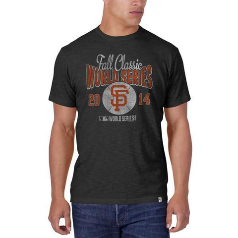 Shop San Francisco Giants 47 Brand 2014 World Series Charcoal Gray Scrum T-Shirt - Sporting Up