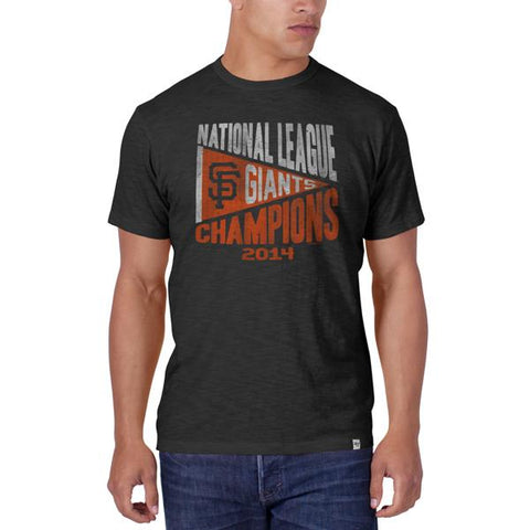 Shop San Francisco Giants 47 Brand 2014 NLCS Champions Charcoal Gray Scrum T-Shirt - Sporting Up
