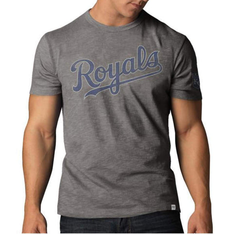 Shop Kansas City Royals 47 Brand Wolf Grey Scrum T-Shirt