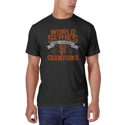 Shop San Francisco Giants 47 Brand 2014 World Series Champions Gray Scrum T-Shirt