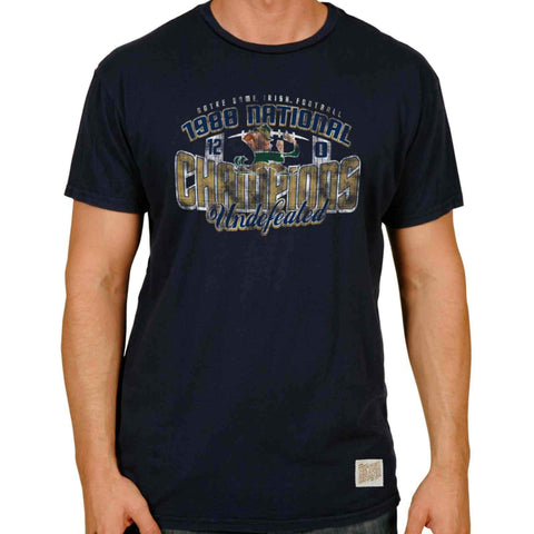 Shop Notre Dame Fighting Irish Retro Brand Navy 1988 National Champions T-Shirt