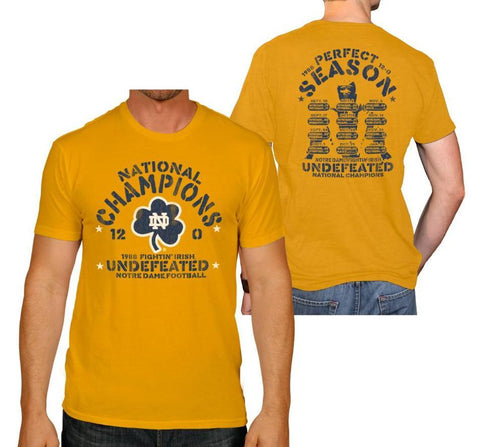 Shop Notre Dame Fighting Irish Retro Brand Yellow 1988 National Champs T-Shirt