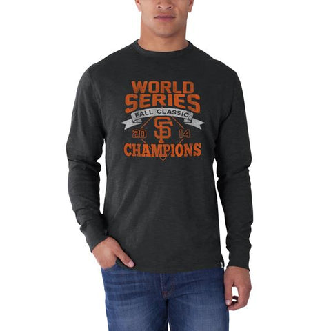Shop San Francisco Giants 47 Brand Gray 2014 World Series Champions LS T-Shirt - Sporting Up