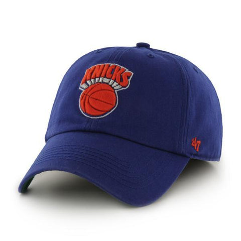 Shop New York Knicks 47 Brand The Franchise Royal Blue Fitted Hat Cap