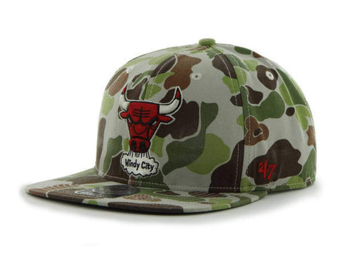 Shop Chicago Bulls 47 Brand Camouflage Camo Bufflehead Adjustable Snapback Hat Cap