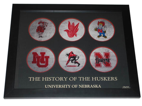 Shop Nebraska Cornhuskers ProGraphs Evolution of the Huskers Framed Print (16x20)