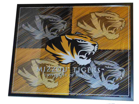 Shop Missouri Tigers ProGraphs Black Yellow Checkered Pop Art Framed Print (16x20) - Sporting Up