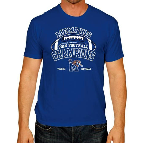 Shop Memphis Tigers The Victory Blue 2014 AAC Football Champions T-Shirt - Sporting Up