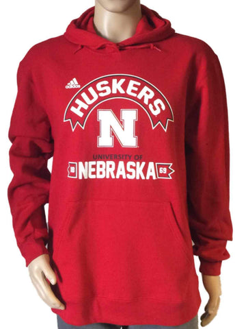 Shop Nebraska Cornhuskers Adidas 1869 Screen Printed Red Hoodie Sweatshirt
