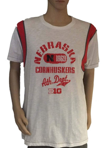 Shop Nebraska Cornhuskers Blue 84 Mens 1869 Athletic Department White Red T-Shirt