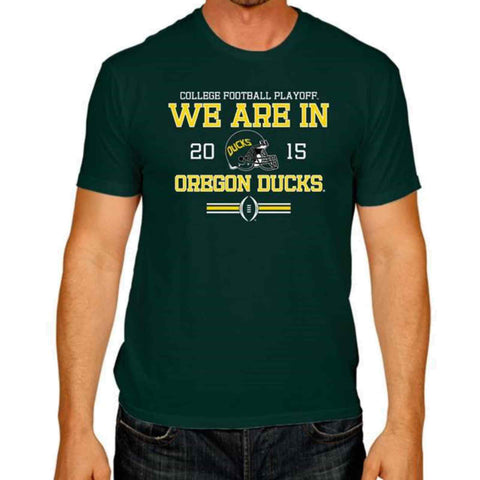 Shop Oregon Ducks The Victory Green 2015 We Are In College Football Playoff T-Shirt