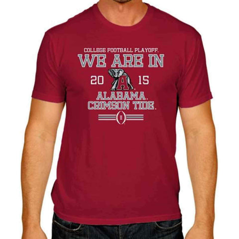 Shop Alabama Crimson Tide Victory 2015 We Are In College Football Playoff T-Shirt - Sporting Up