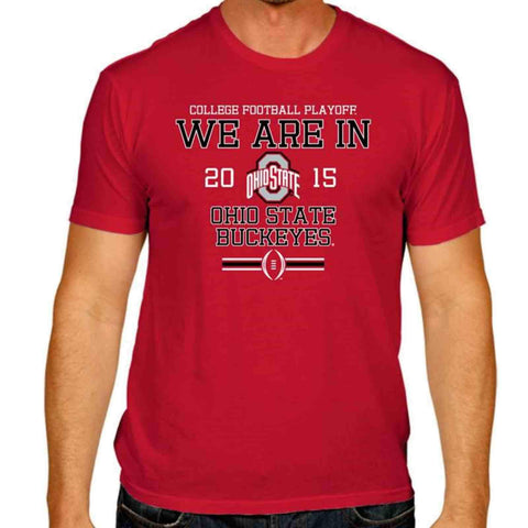 Ohio State Buckeyes Victory Red 2015 We Are In College Football Playoff T-Shirt